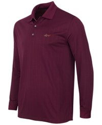 Greg Norman For Tasso Elba Men's Striped Long Sleeve Polo Only At Macy's Port