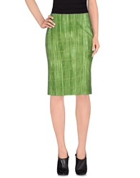 Kiltie Skirts Knee Length Skirts Women Green