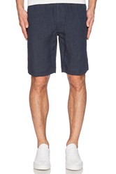 Our Legacy Relaxed Linen Short Navy