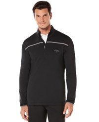 Callaway Golf Performance 1 4 Zip Long Sleeve Premium Base Caviar