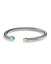 Cable Classics Bracelet With Blue Topaz And Gold David Yurman Blue Gold