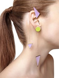 Sylvio Giardina Collezione Three 3 Triangle Earrings
