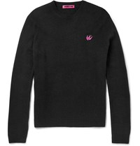 Mcq By Alexander Mcqueen Slim Fit Wool And Cashmere Blend Sweater Black