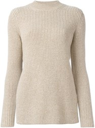 Carven Ribbed Jumper Nude And Neutrals