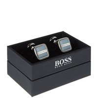 Boss Robert Square Cufflinks Unisex Blue