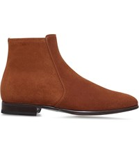 Tom Ford Gloucester Suede Ankle Boots Tan