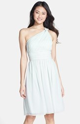 Women's Donna Morgan 'Rhea' One Shoulder Chiffon Dress Hint Of Mint