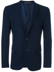 Corneliani Notched Lapel Blazer Blue