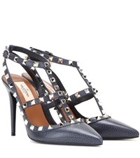 Valentino Rockstud Leather Pumps Blue