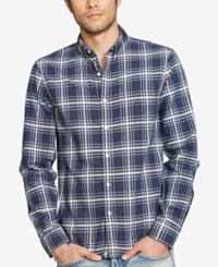 Denim And Supply Ralph Lauren Men's Plaid Oxford Shirt Navy White