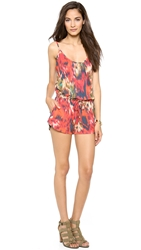 Haute Hippie Short Drawstring Romper Multi