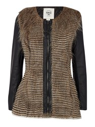 Bellfield Long Sleeved Faux Fur Jacket Black