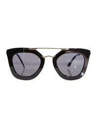 Pixie Market Anya Black And Gold Sunglasses