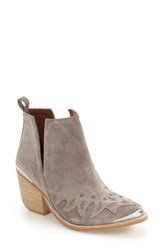 Jeffrey Campbell Women's 'Olinda' Western Bootie Taupe Suede