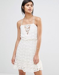 Vero Moda Strappy Lace Cami Dress Antique White