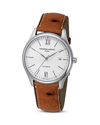 Frederique Constant Classics Index Watch With Ostrich Strap 40Mm Silver