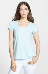Eileen Fisher Organic Cotton Scoop Neck Tee Regular And Petite Online Only Dewberry