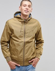 Element Dulcey Jacket In Khaki With Printed Lining Canyon Khaki Green