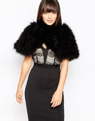 Lipsy Feather Look Gilet 011 Black