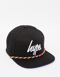 Hype Rope Front Snapback Cap Black