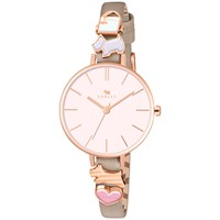 Radley Ry2408 Women's Time After Time Leather Strap Watch Woodland Blush