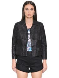 Just Cavalli Fringed Smooth Leather Jacket