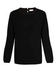 Brunello Cucinelli Round Neck Cashmere Sweater Black