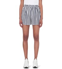 Chocoolate Striped Woven Shorts Navy