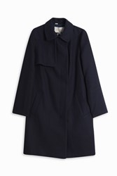 Paul And Joe Sister Peter Pan Collar Trench Coat Navy
