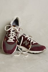 Anthropologie New Balance 580 Plaid Sneakers Wine