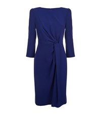 Armani Collezioni Asymmetric Knot Dress Female Blue