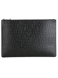 Givenchy Star Logo Embossed Clutch Black