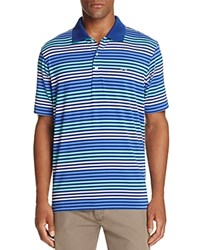 Vineyard Vines Hunter Stripe Regular Fit Performance Polo Shirt Royal Ocean