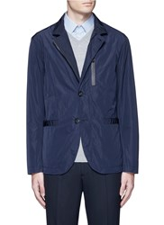 Armani Collezioni Water Repellent Jacket Blue