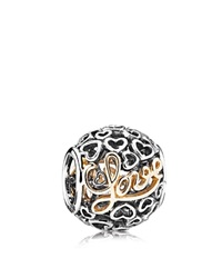 Pandora Design Pandora Charm Sterling Silver And 14K Gold Message Of Love Moments Collection Silver Gold