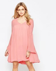 Hazel Panelled Babydoll Dress Blush Pink