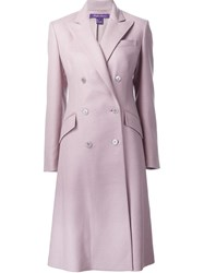 Ralph Lauren Black Label Classic Coat Pink And Purple