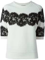 Lanvin Lace Panel Sweatshirt White