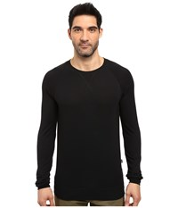 Threads For Thought Baseline Raglan Modal Crew Black Men's Clothing