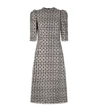 Dolce And Gabbana Glitter Dot Houndstooth Dress Female Black