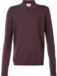 Orley Classic Long Sleeve Polo Red