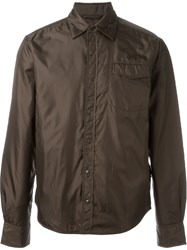 Aspesi Zip Up Wind Breaker Brown