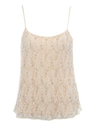 Jane Norman Beaded Lace Camisole Top Pink