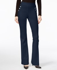 Inc International Concepts Curvy Flare Leg Trousers Only At Macy's Deep Twilight