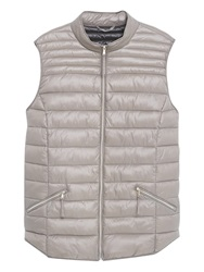 Violeta By Mango Quilted Gilet Pastel Grey