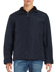 Weatherproof Zip Front Quilted Lining Jacket Artic Blue