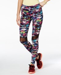 Material Girl Active Printed Mesh Inset Leggings Only At Macy's Geo Burst