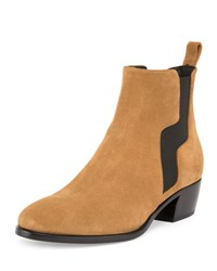 Pierre Hardy Gipsy Suede Pull On Ankle Boot Camel