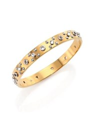 Marc By Marc Jacobs Eyelet Two Tone Bangle Bracelet