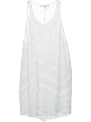 Iro Long Sheer Tank Top White